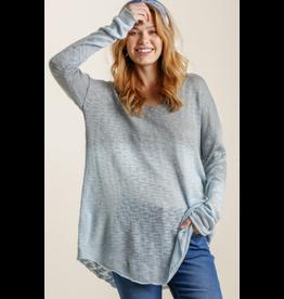 Dip Dye Loose Knit Sweater