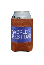 Smathers & Branson S&B Needlepoint Can Cooler, World's Best Dad (royal)