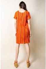 Short Sleeve Striped Dress