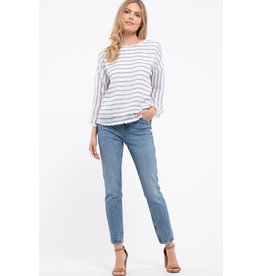 Woven Striped Top