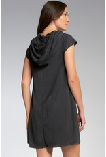 Cap Sleeve Dress with Hood