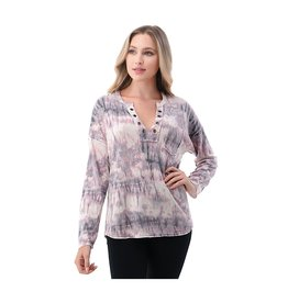 Ariella Front Button and Pocket Detailed Top