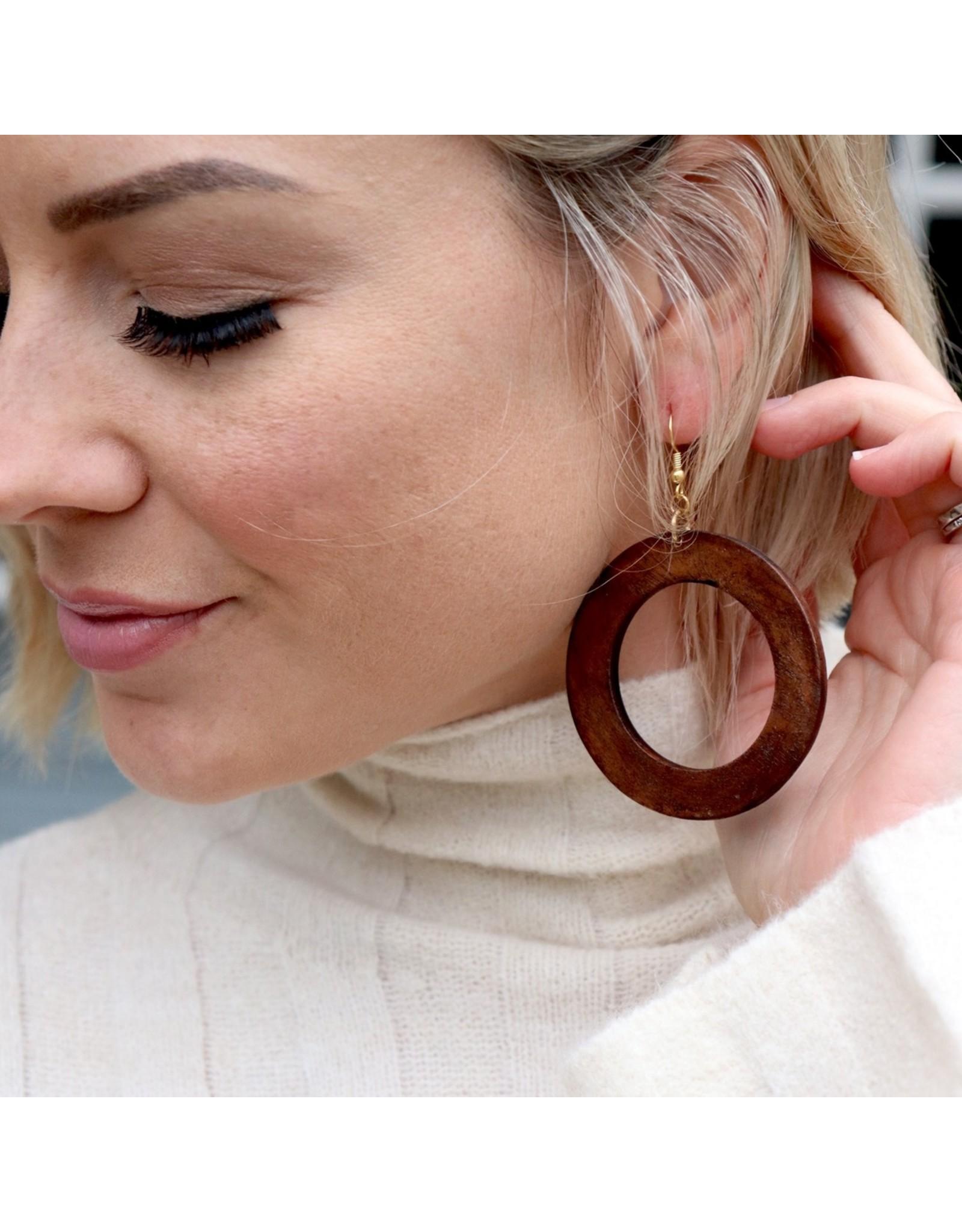 Cedar & Cypress Makaya Earrings, mahogany