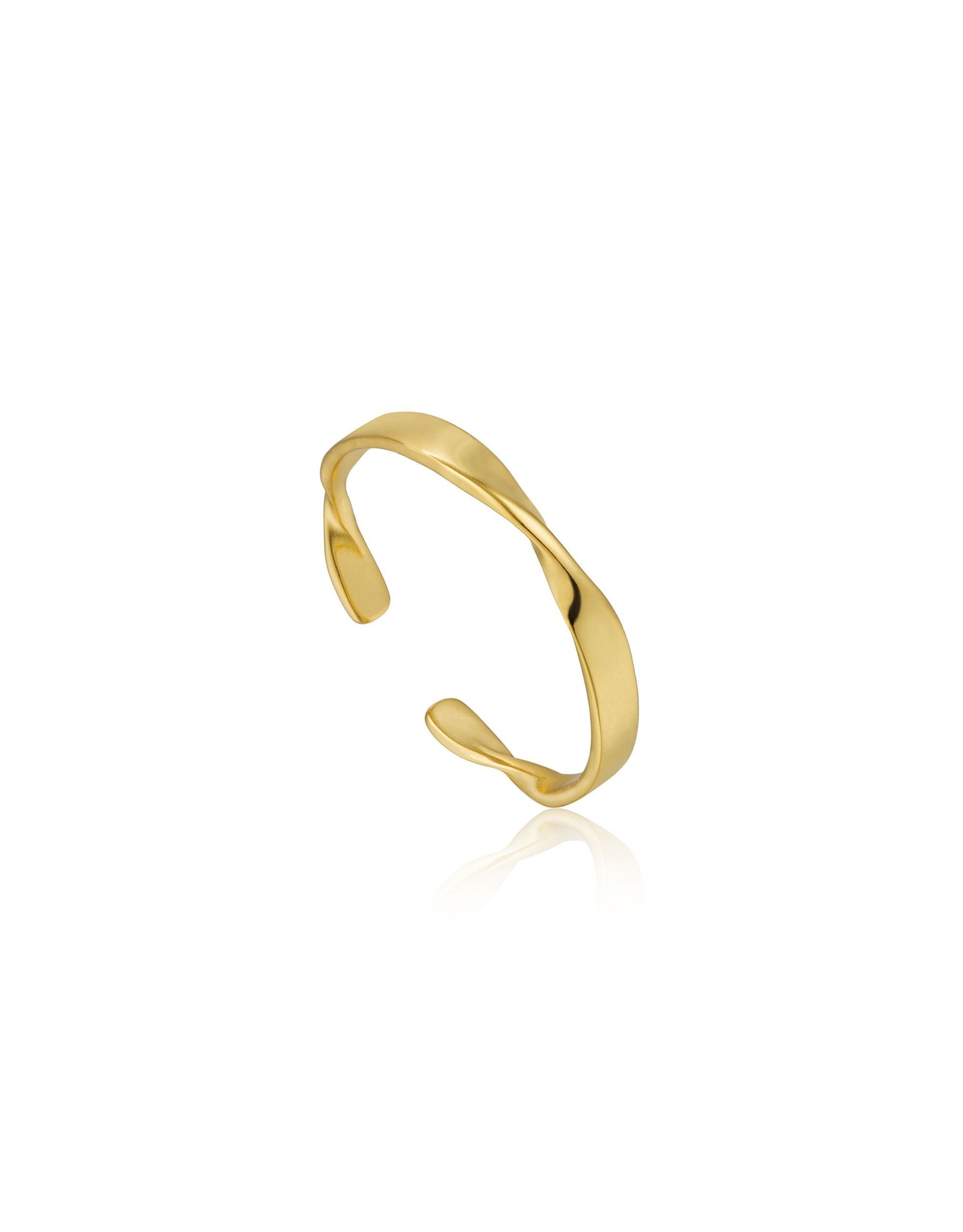 Ania Haie Helix Thin Adjustable Ring, Gold
