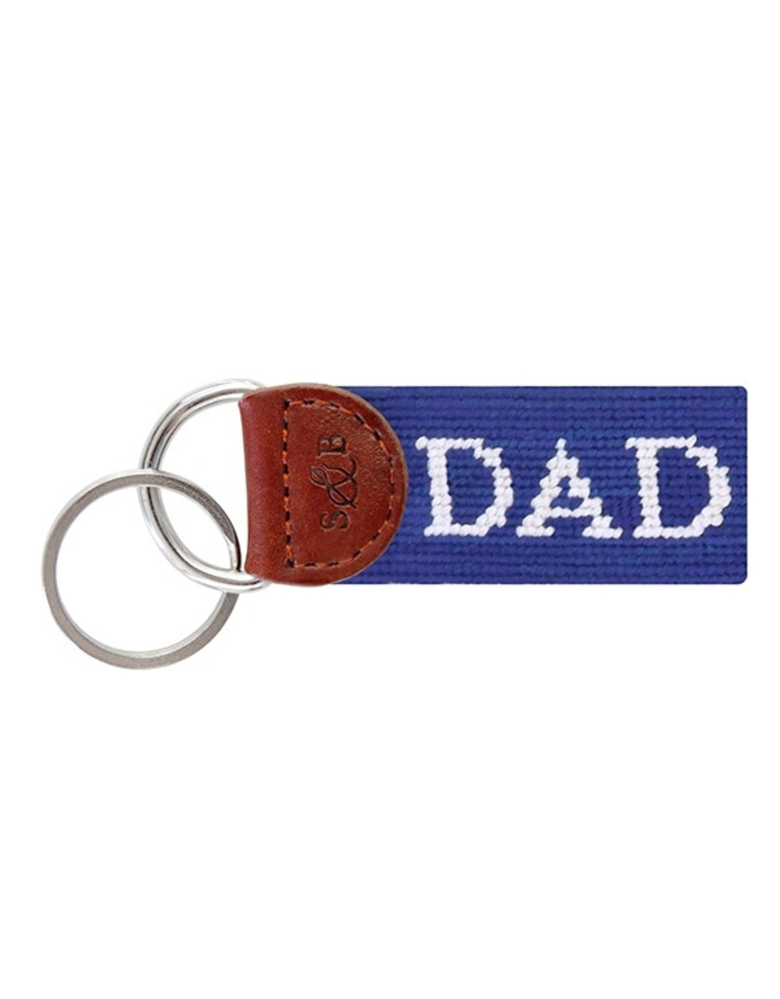 Smathers & Branson S&B Needlepoint Key Fob, Dad (royal blue)