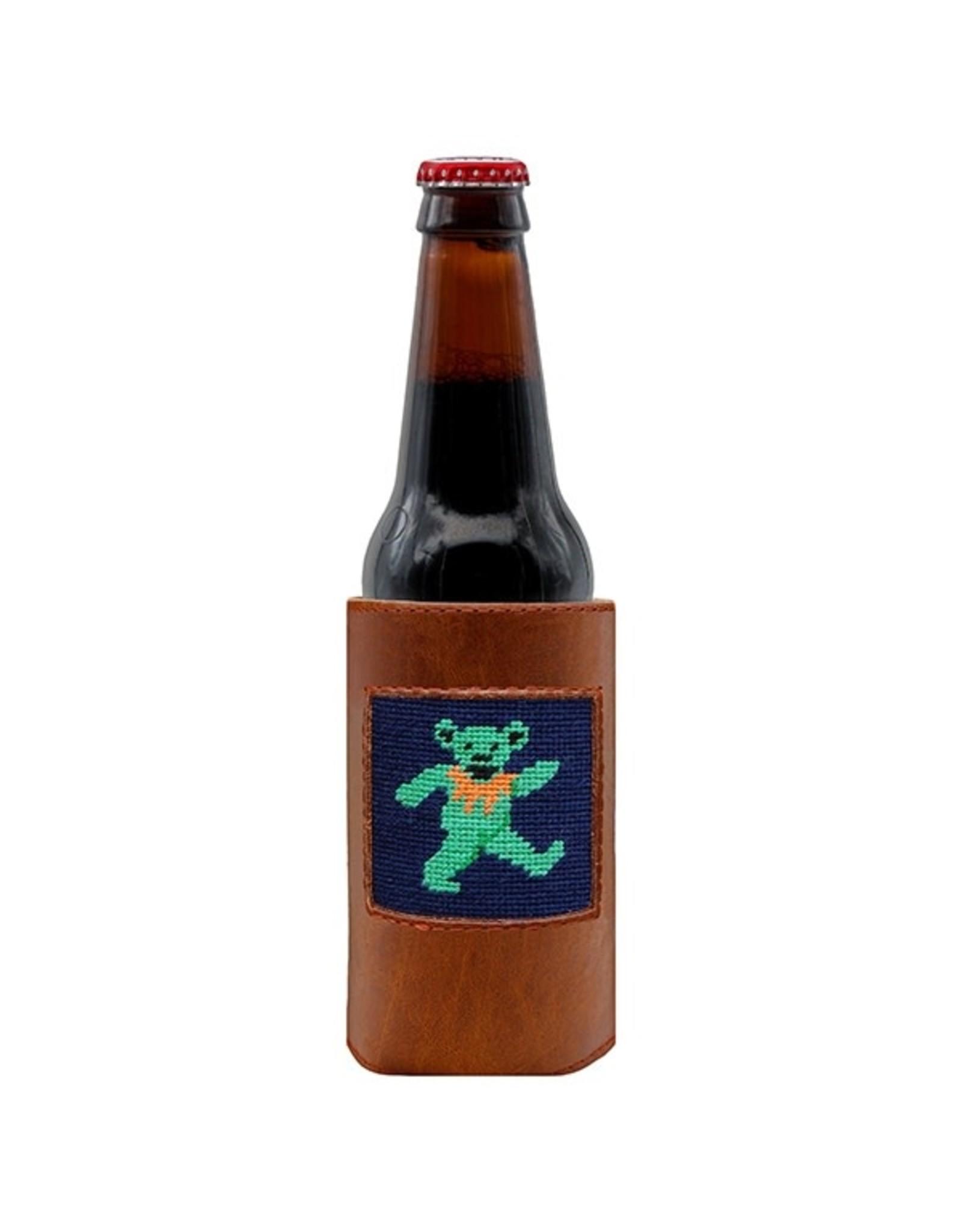 Smathers & Branson S&B Needlepoint Bottle Cooler, Dancing Bear