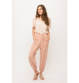 Acid Washed Relaxed Jogger Pants