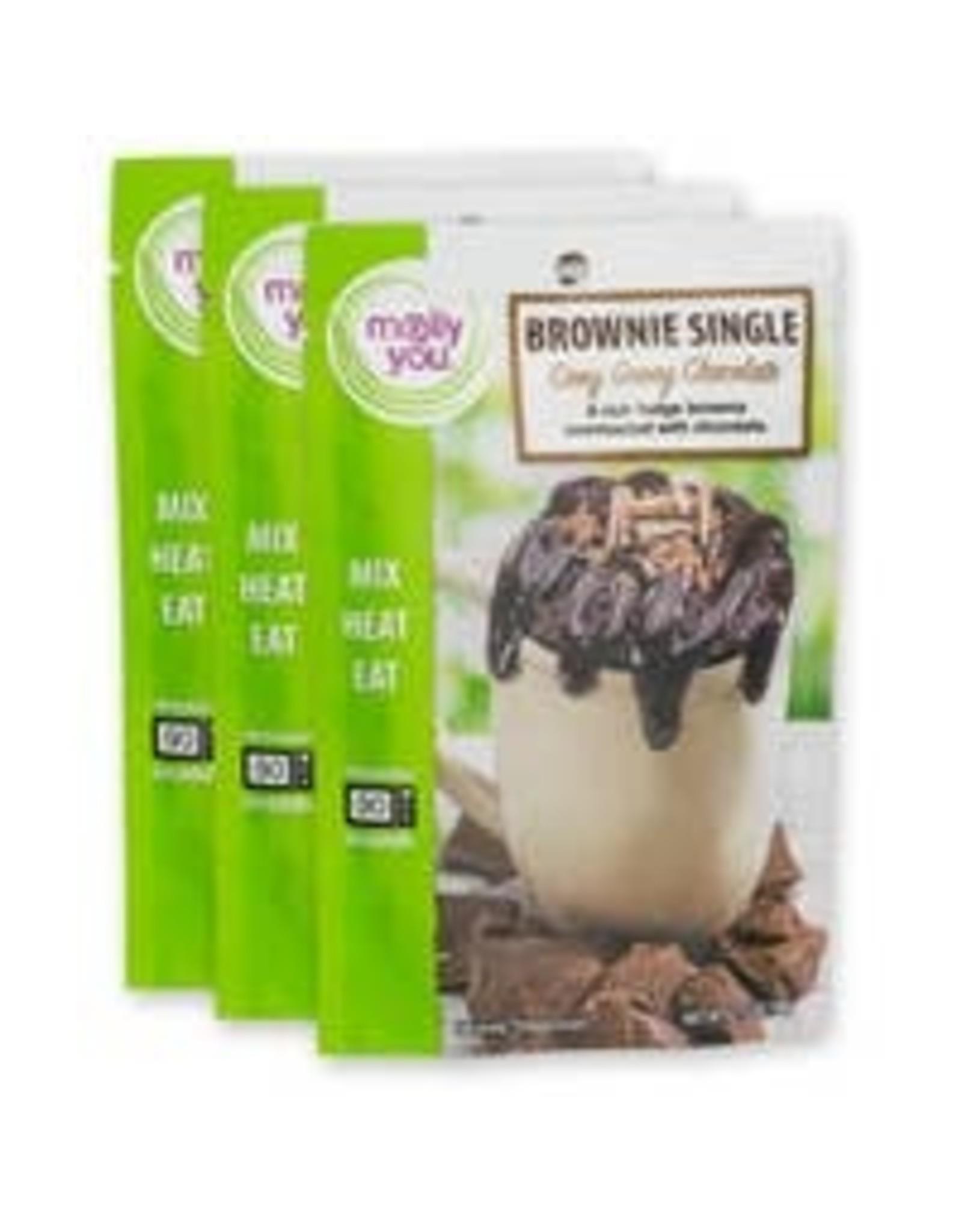 Ooey Gooey Chocolate Brownie Single