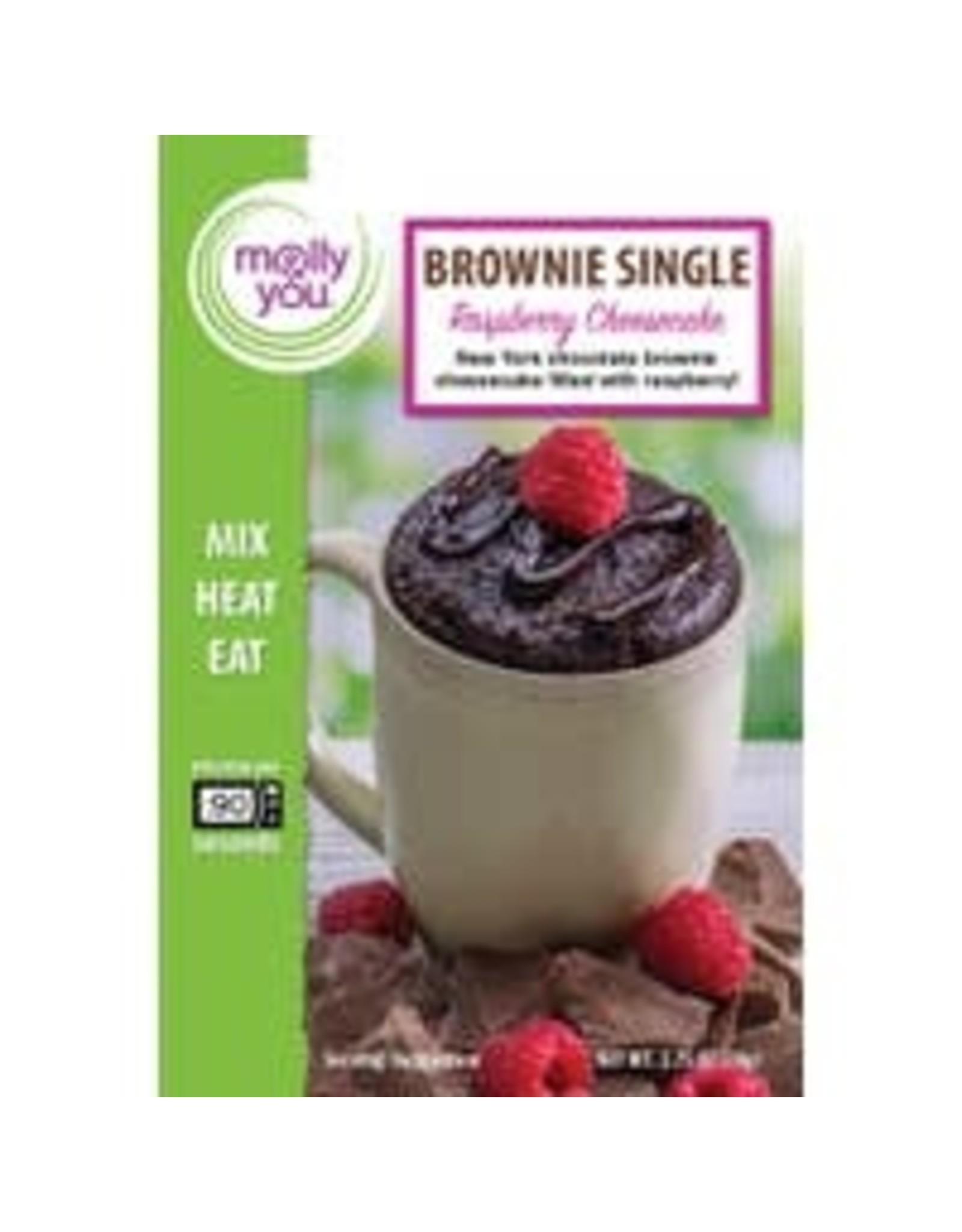 Chocolate Raspberry Cheesecake Brownie Single