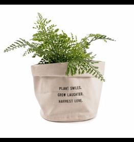 """Large Canvas Planter, """"Plant Smiles...."""""""