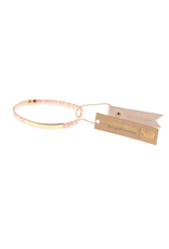 Good Karma Bracelet, Good as Gold, blush/gold