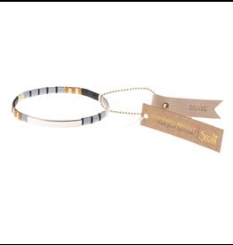 Good Karma Bracelet, Brave, gray/black/silver