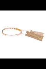 Good Karma Bracelet, Be Fierce, pink/mustard/silver