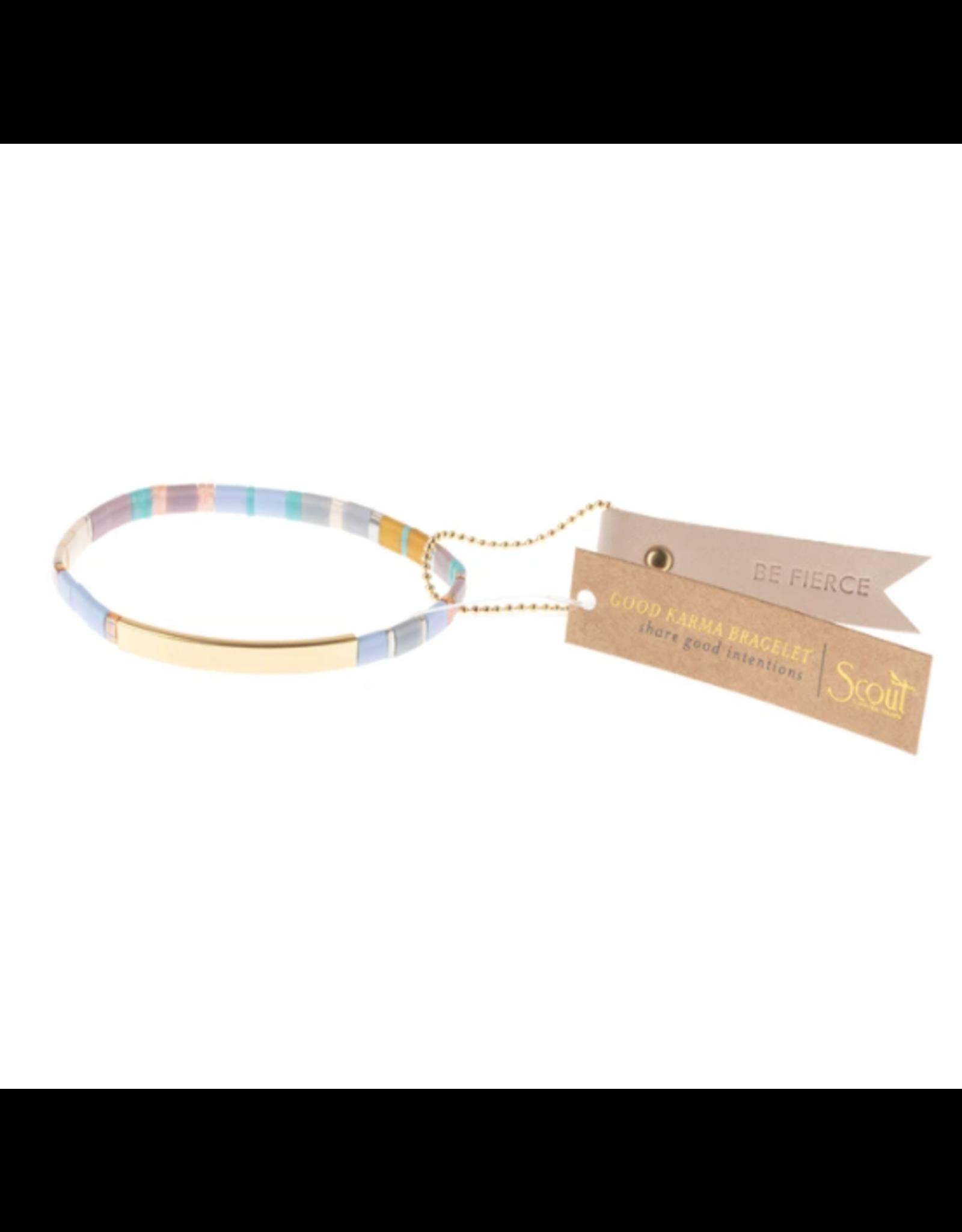 Good Karma Bracelet, Be Fierce, lavender/gold