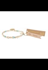 Good Karma Charm Bracelet, Breathe, ivory/sparkle/gold