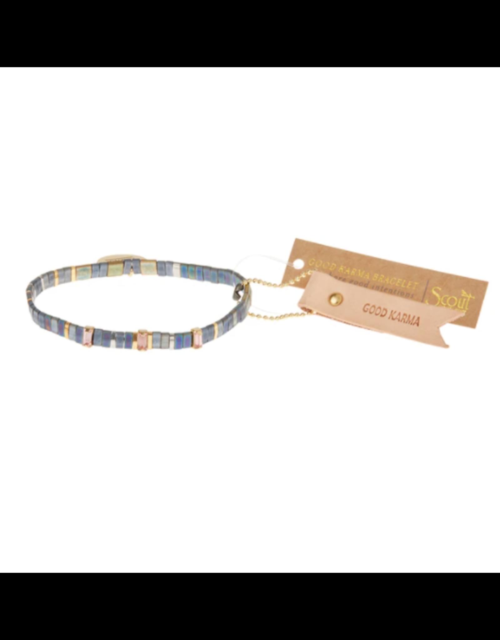Good Karma Charm Bracelet, Good Karma, oil slick/sparkle/gold