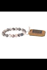 Stone Stacking Bracelet, Ocean Agate, Stone of Plenitude