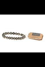 Stone Stacking Bracelet, Pyrite, Stone of Energy