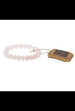 Stone Stacking Bracelet, Rose Quartz, Stone of the Heart