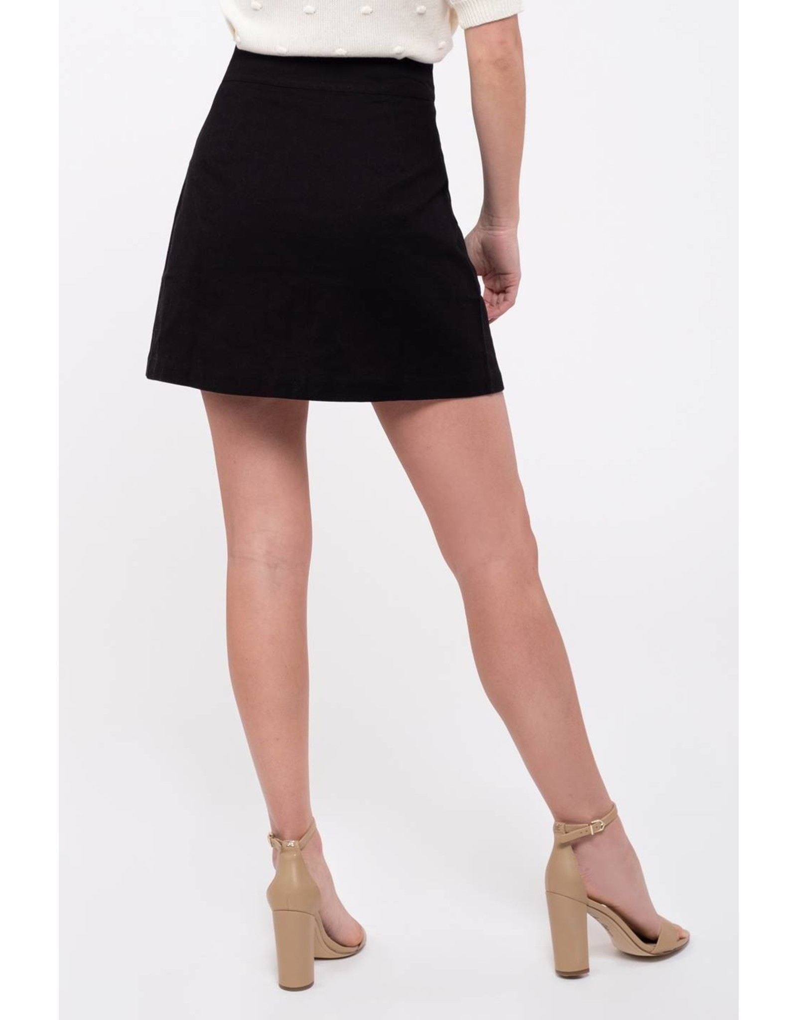 Front Button Skirt with Pockets