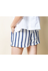 Striped Shorts with Tassel