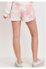 Paper Crane French Terry Tie Dye Shorts with Pockets