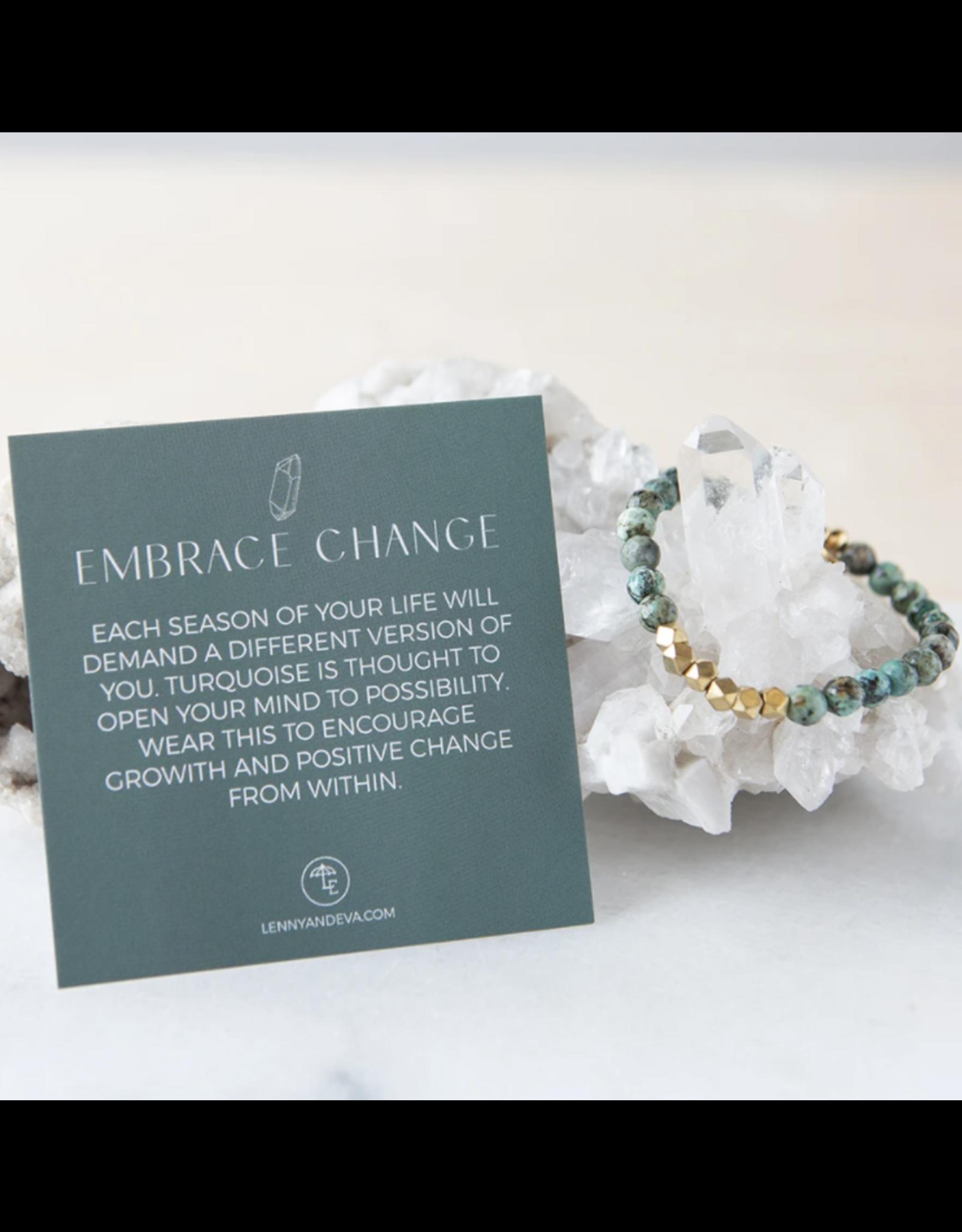 L&E Gemstone Bracelet, african turquoise, 6mm