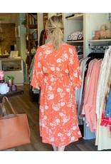 Veveret Woven Smocked Waist Floral Print Dress
