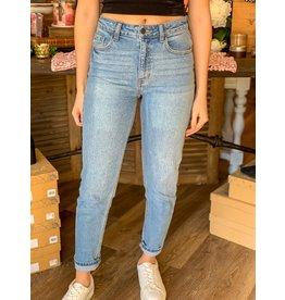 High Rise Slim Straight Leg Jeans