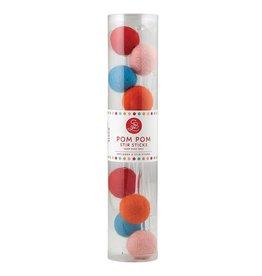 Pom Pom Stir Sticks, set of 8