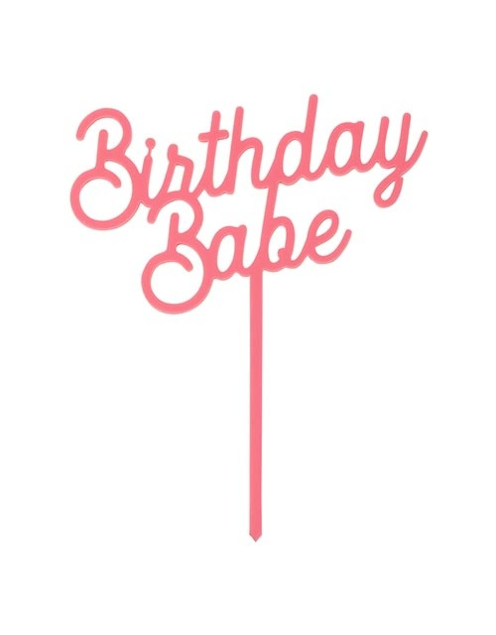 Acrylic Cake Topper, Birthday Babe