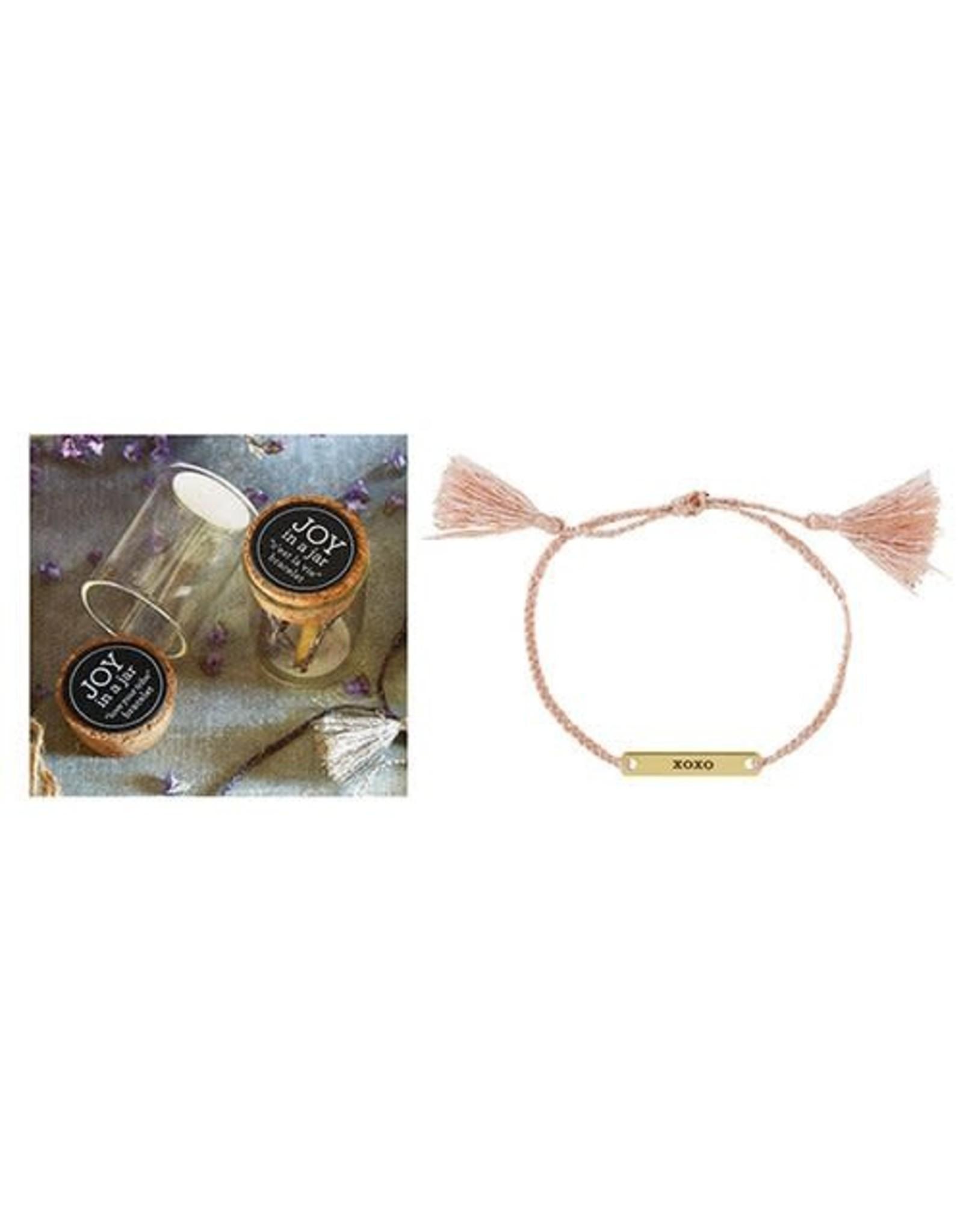 Joy in a Jar Bracelet, XOXO, blush