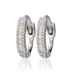 CAI Huggies, pave stone, silver opal