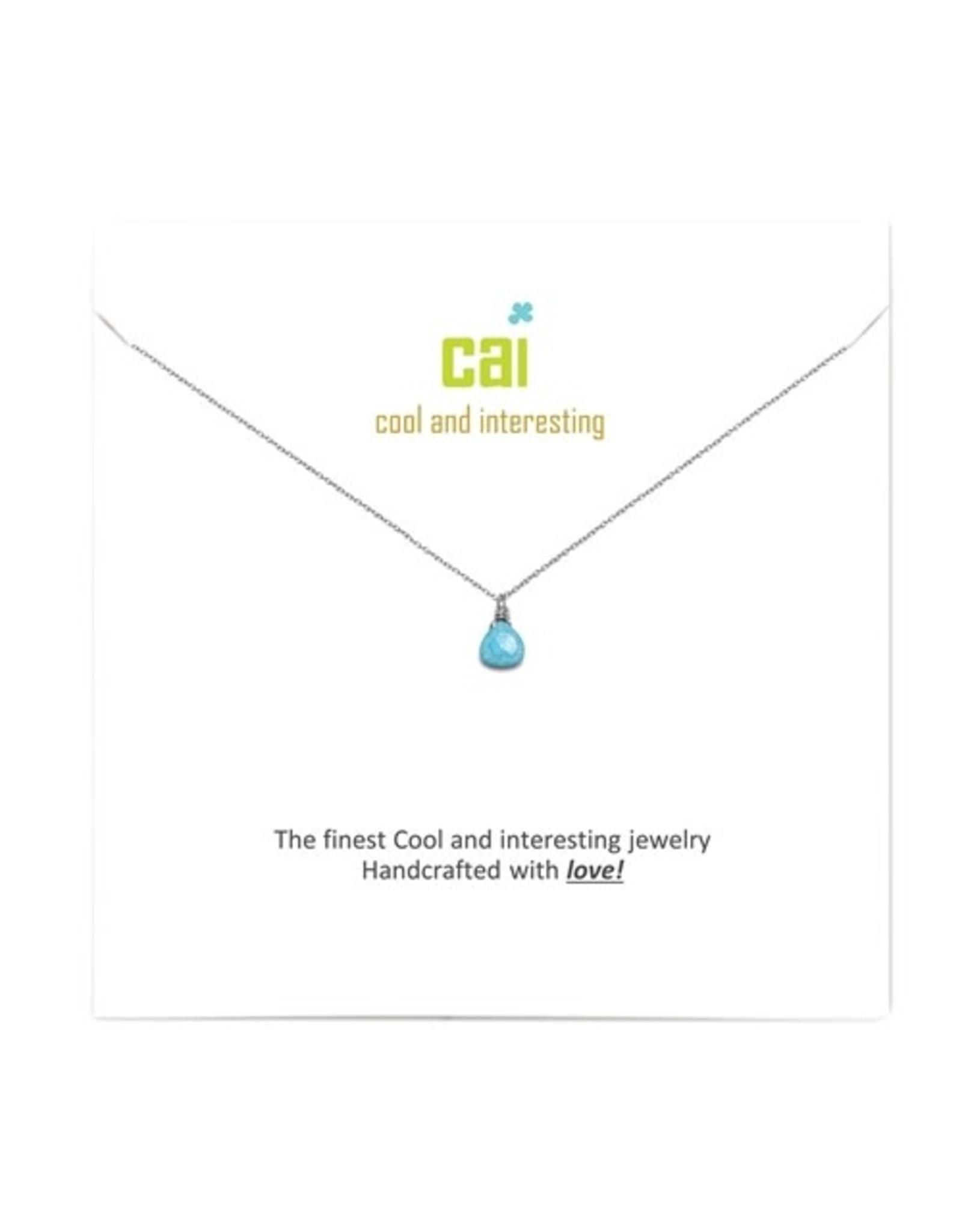 CAI Mini Teardrop Gemstone Necklace
