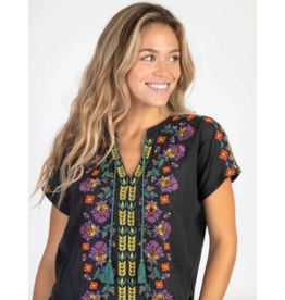 Natural LIfe Embroidered Tassel Top