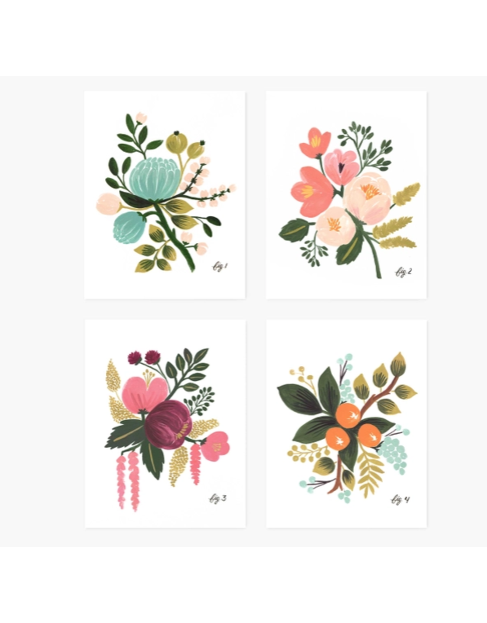 Assorted Botanical Cards, boxed set