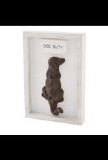 Mud Pie Shadow Box Dog Hook