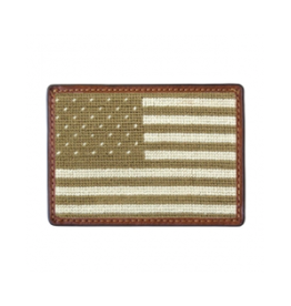 Smathers & Branson S&B Needlepoint Card Wallet, Armed Forces Flag