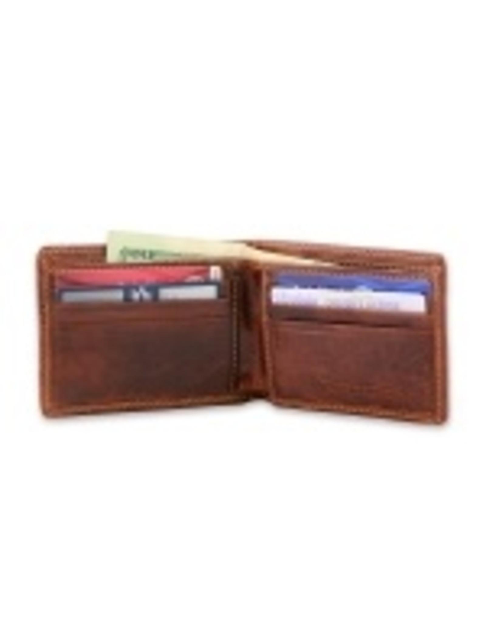 Smathers & Branson S&B Needlepoint Bi-fold Wallet, Crossed Club on classic navy