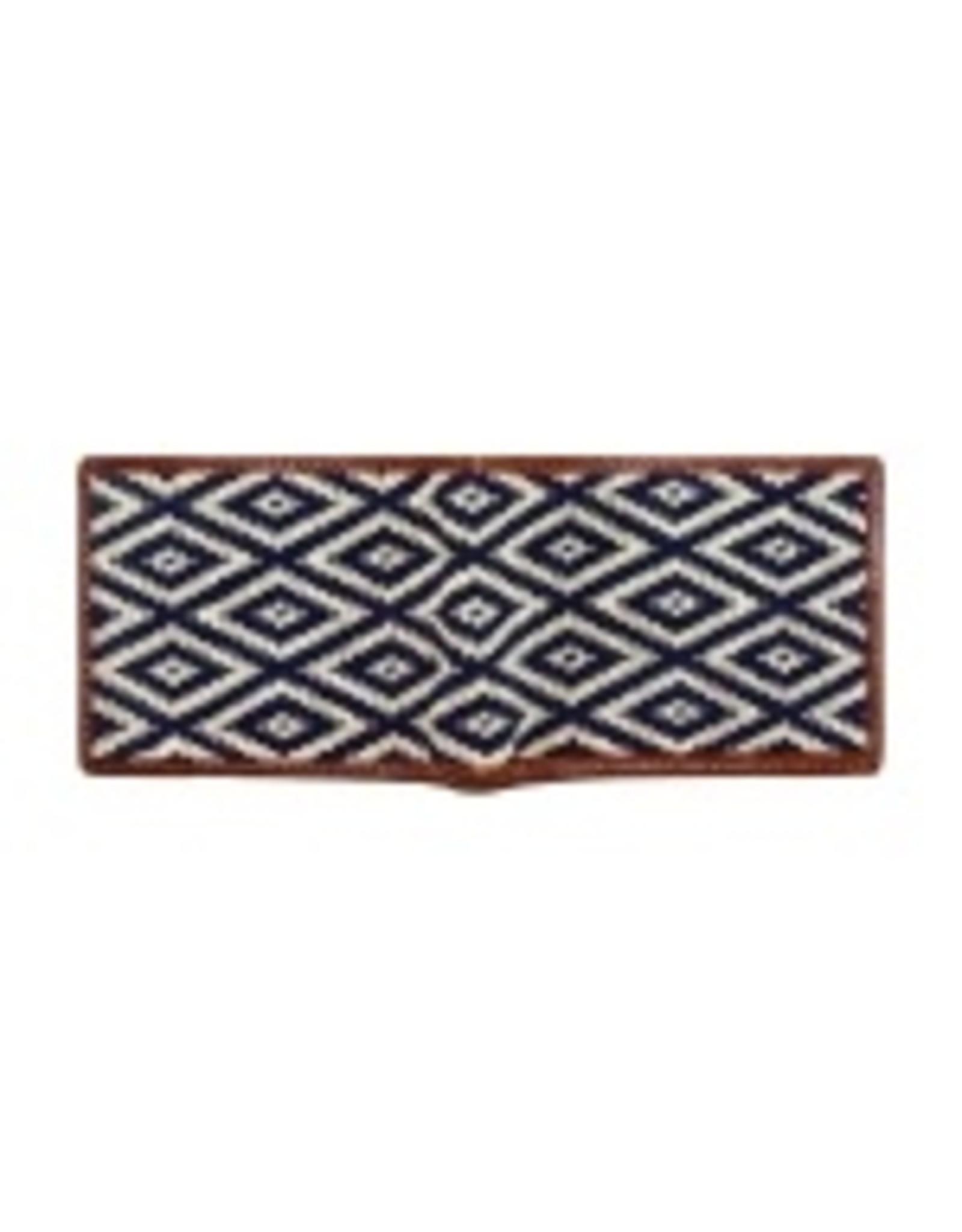 Smathers & Branson S&B Needlepoint Bi-fold Wallet, Gaucho Mini