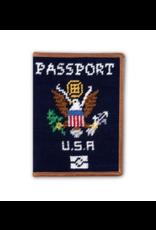 Smathers & Branson S&B Needlepoint Passport Case, dark navy