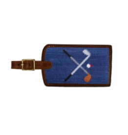 Smathers & Branson S&B Luggage Tag, Crossed Clubs on classic navy