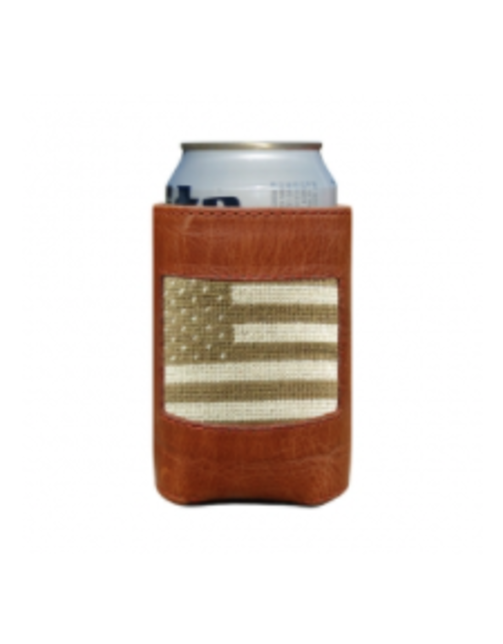 Smathers & Branson S&B Needlepoint Can Cooler, Armed Forces Flag
