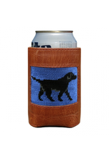 Smathers & Branson S&B Needlepoint Can Cooler, Black Lab (blueberry)
