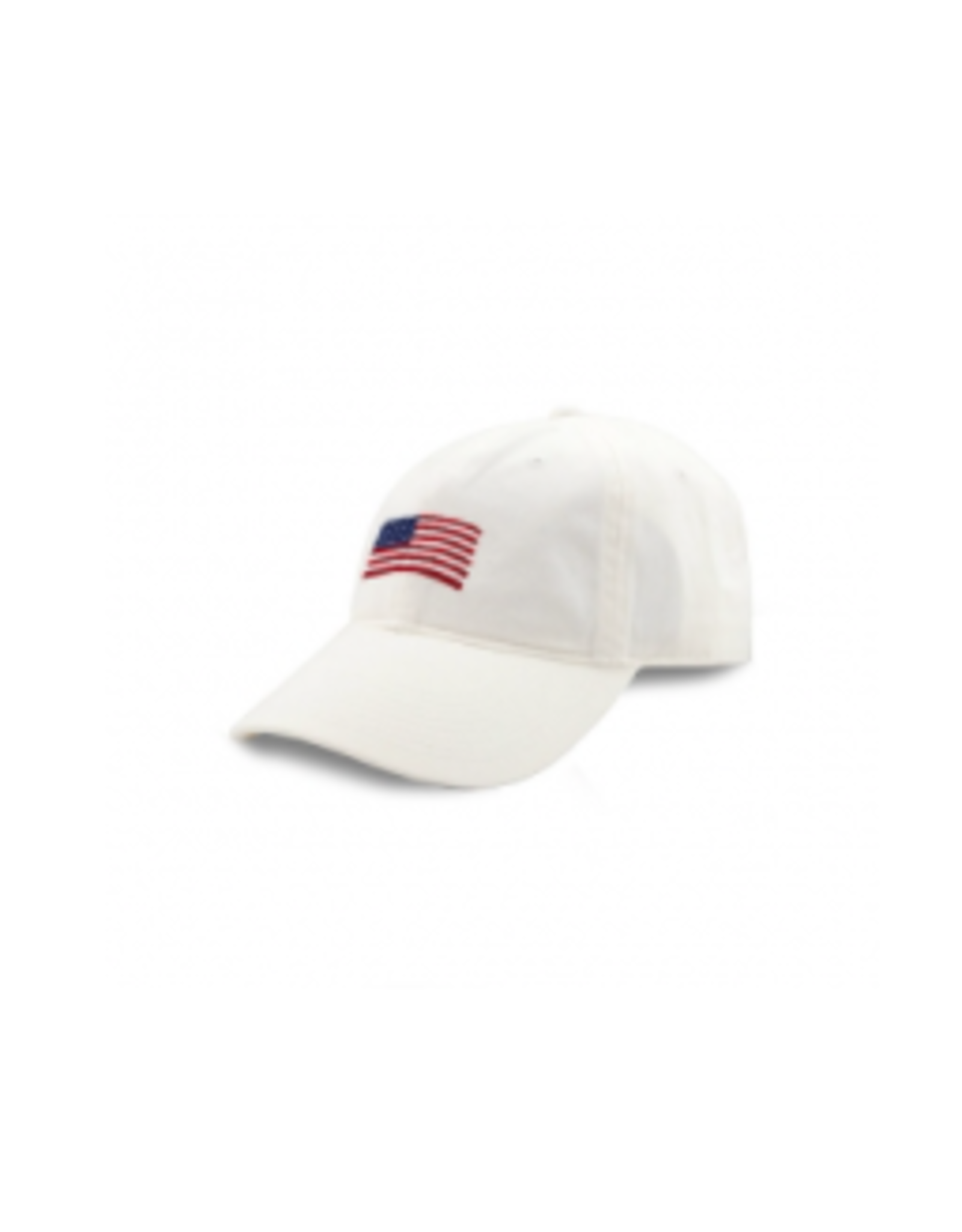Smathers & Branson S&B Needlepoint Ball Hat, American Flag on White