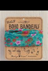Natural LIfe Half Boho Bandeau, Green Floral Mandala