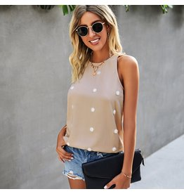 ePretty Sleeveless Top with Textured Dots