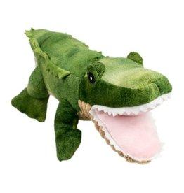 "Plush Gator Dog Toy, 15"""