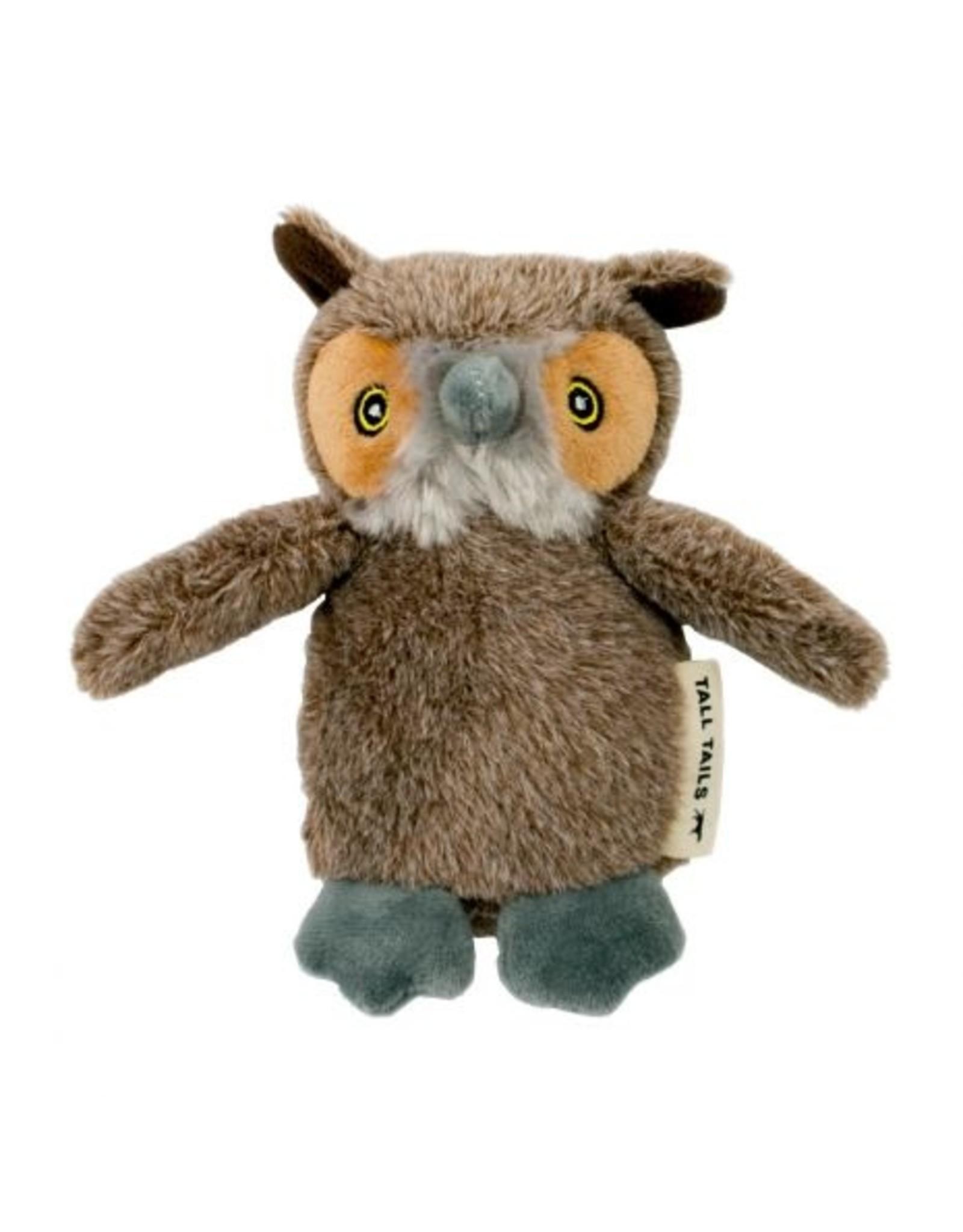 """Plush Owl Dog Toy, 5"""""""