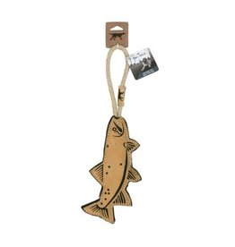 """Leather Trout Toy, 15"""""""